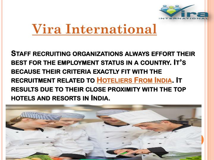 Staff recruiting organizations always effort their best for the employment status in a country. It's because their criteria exactly fit with the recruitment related to