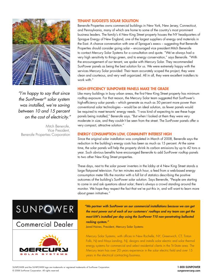 TENaNT SUggESTS SOlaR SOlUTION
