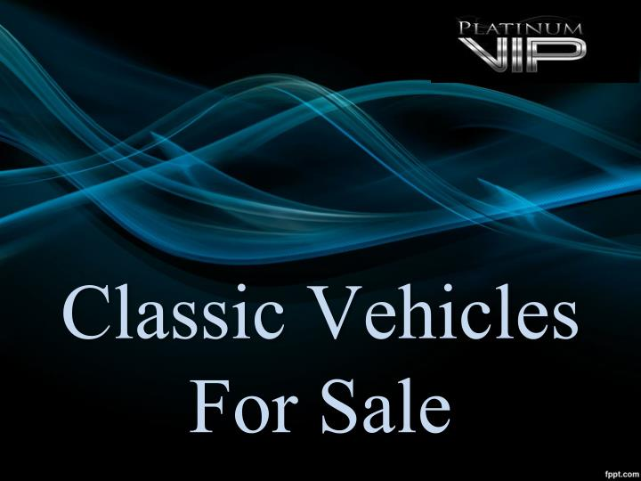 classic vehicles for sale n.