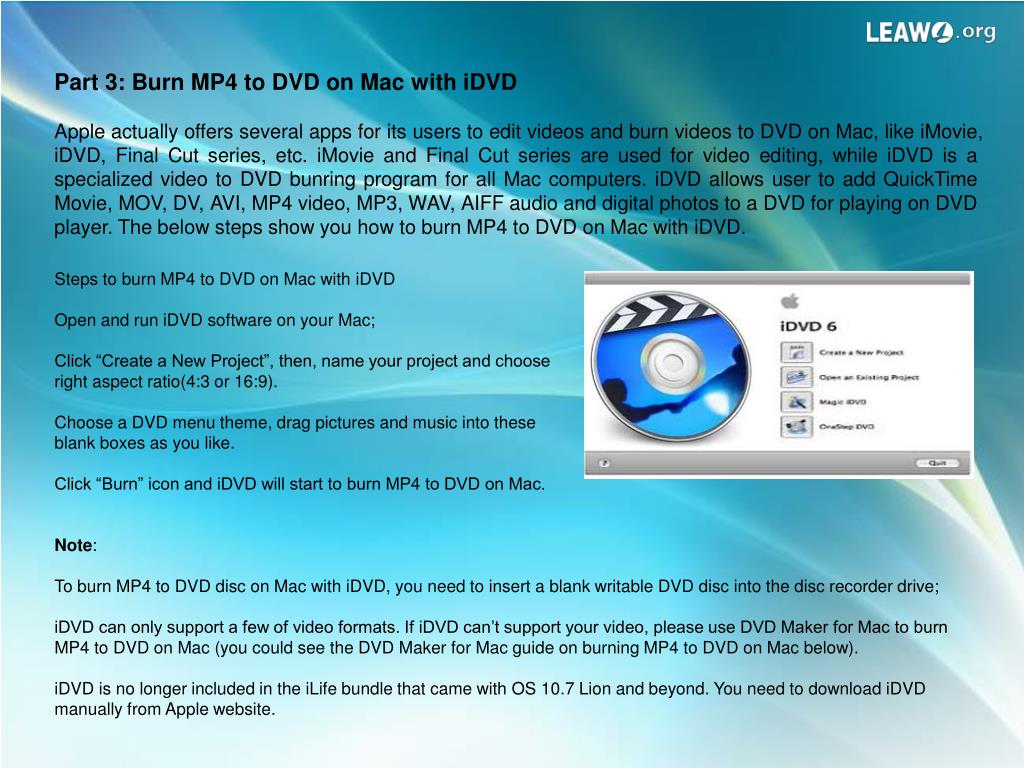 PPT - How to Burn and Convert MP4 to DVD Easily PowerPoint