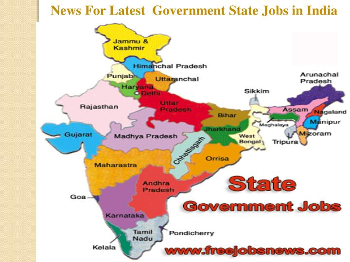 News For Latest  Government State Jobs in India