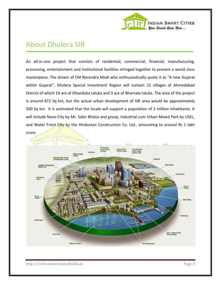 About Dholera SIR