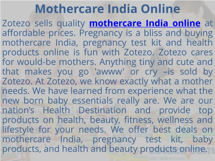 Mothercare india online