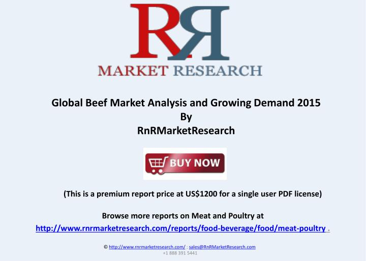 Global Beef Market Analysis and Growing Demand