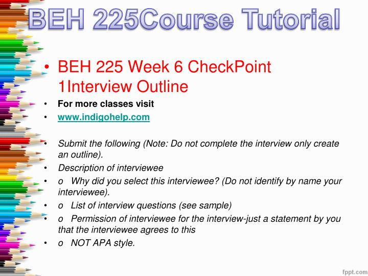 checkpoint intelligence presentation for beh 225 Beh 225 week 3 checkpoint intelligence presentation - free download as powerpoint presentation (ppt / pptx), pdf file (pdf), text file (txt) or view presentation.