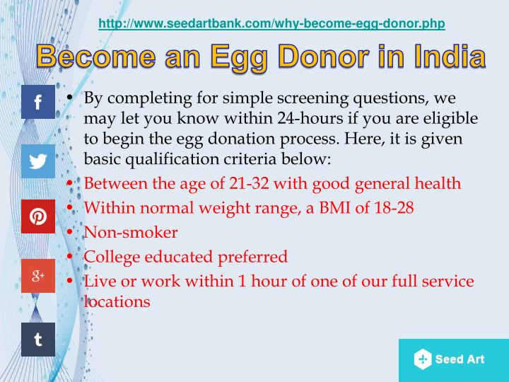Become an egg donor in india