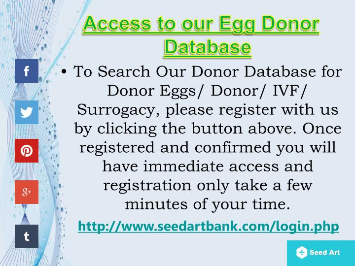 Access to our Egg Donor Database