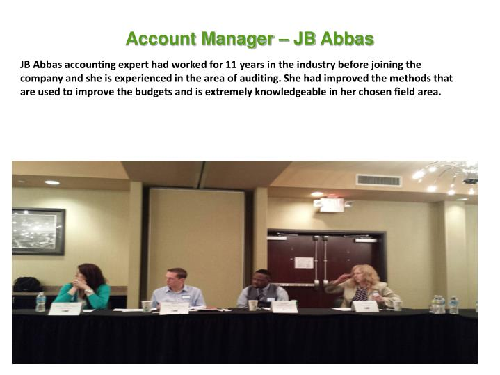 Account Manager – JB