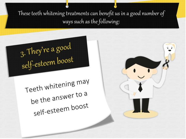 These teeth whitening treatments can benefit us in a good number of ways such as the following:
