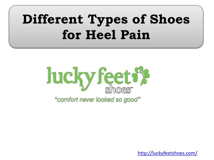 different types of shoes for heel pain n.