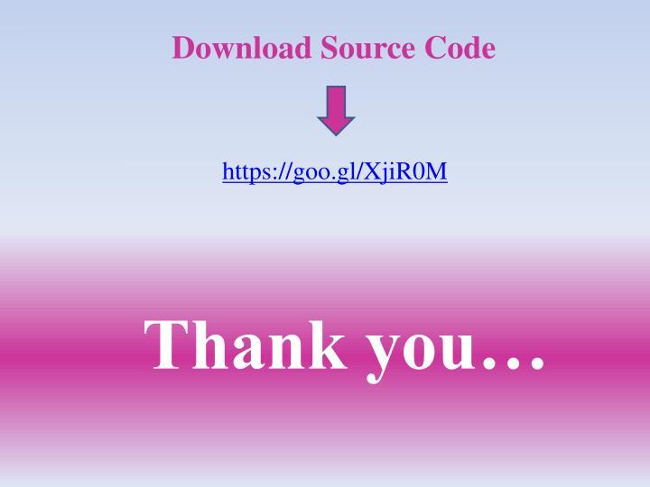Download Source Code