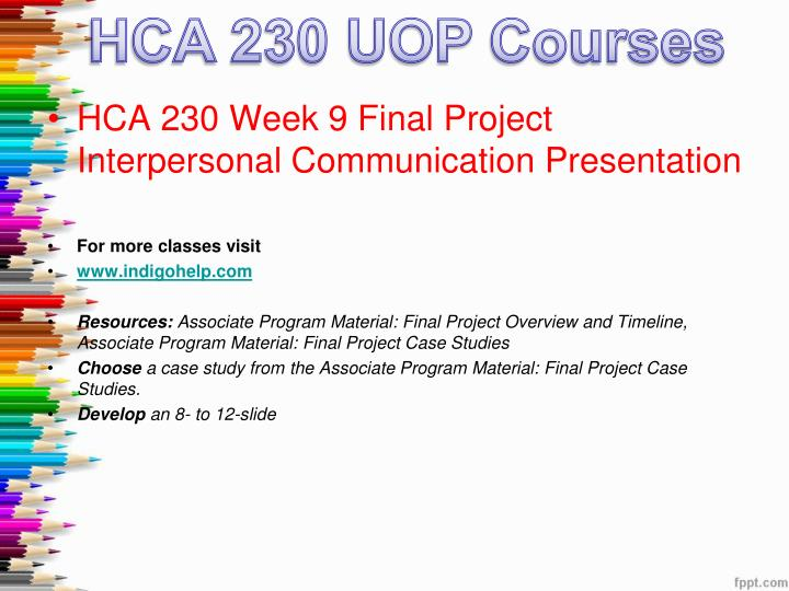hca 230 final project powerpoint presentation