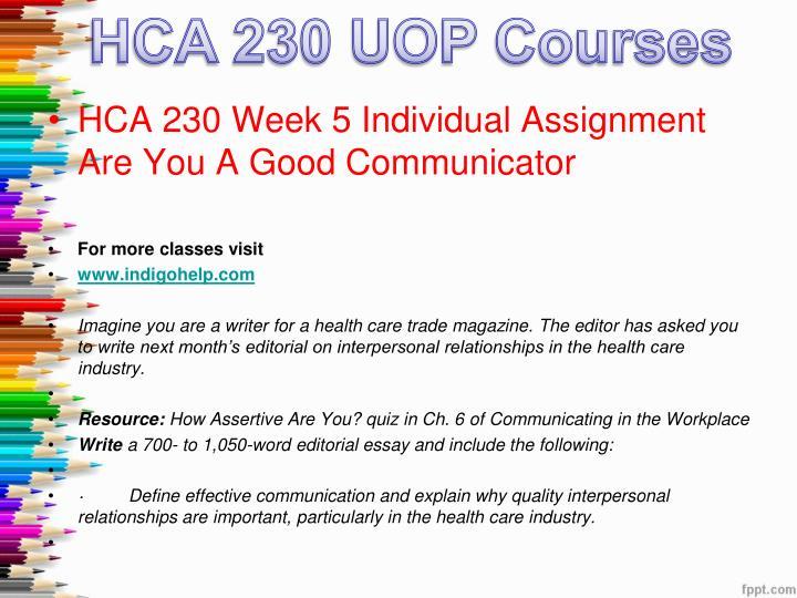 good communicator hca