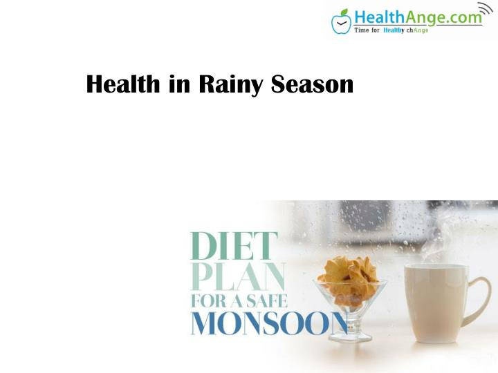 health in rainy season n.