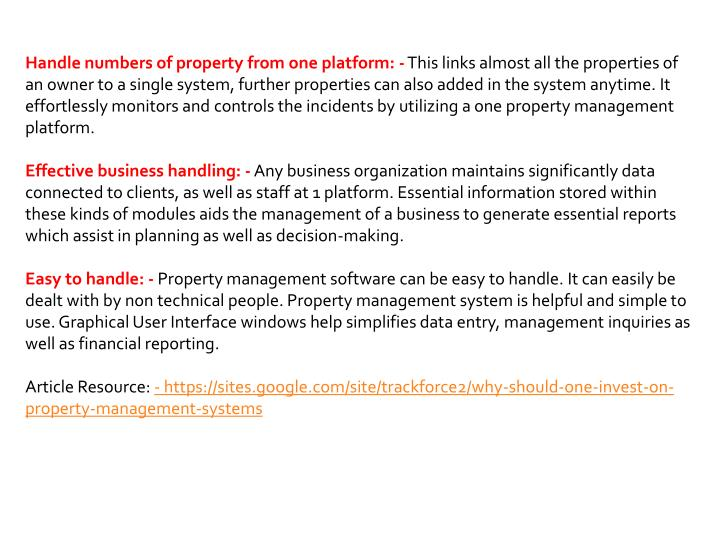 Handle numbers of property from one platform: -