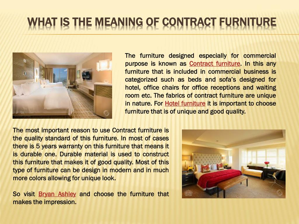 PPT - What is the meaning of contract furniture? PowerPoint