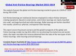 global anti friction bearings market 2015 20191