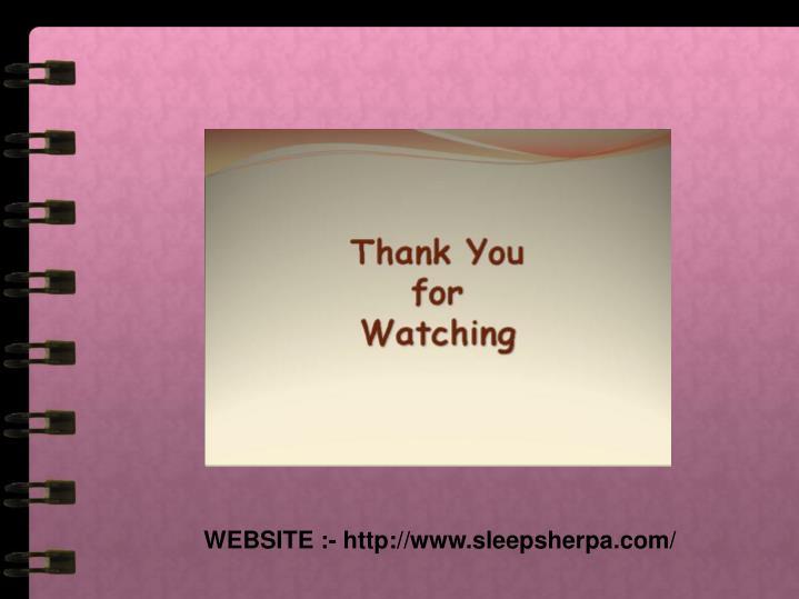 WEBSITE :- http://www.sleepsherpa.com/