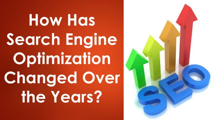 How has search engine optimization changed over the years