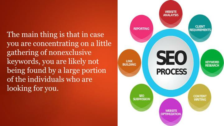 The main thing is that in case you are concentrating on a little gathering of nonexclusive keywords,...