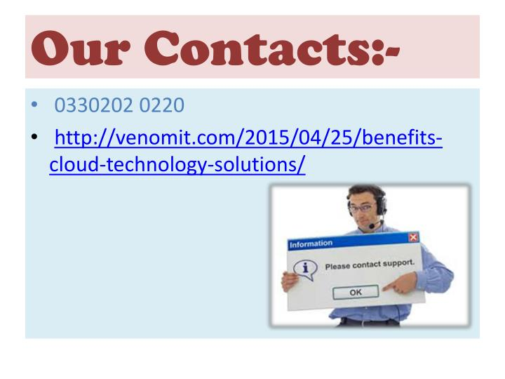 Our Contacts:-