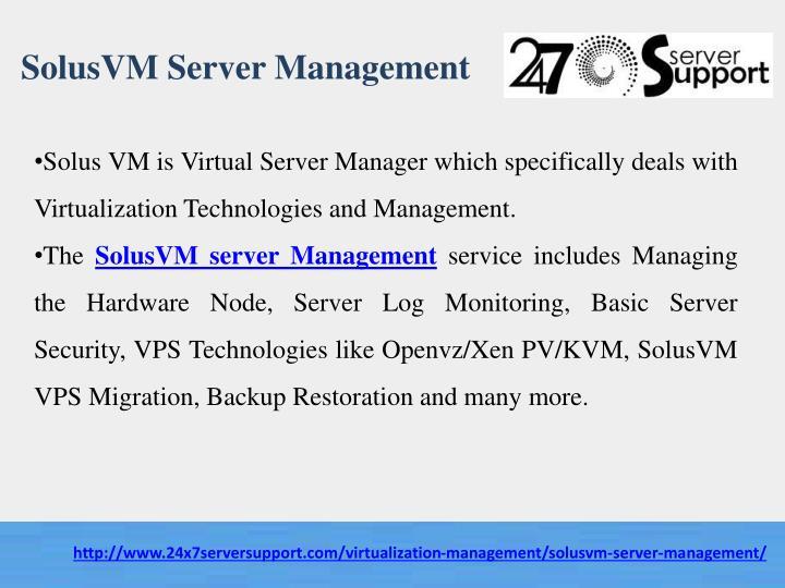 SolusVM Server Management