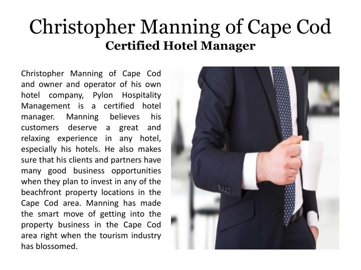 Christopher manning of cape cod certified hotel manager