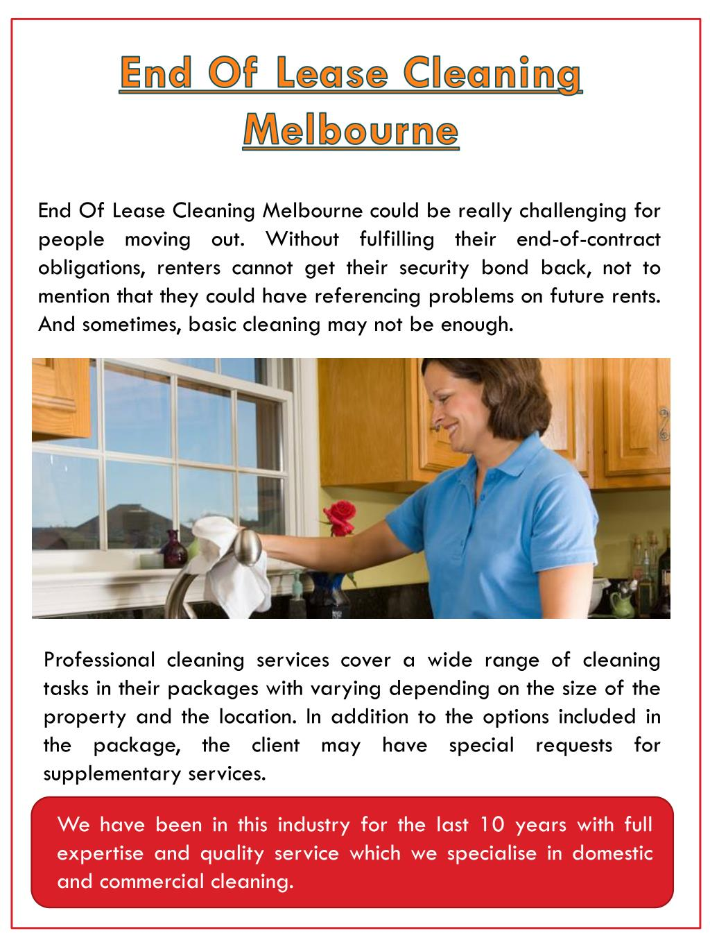 Ppt End Of Lease Cleaners Melbourne Powerpoint