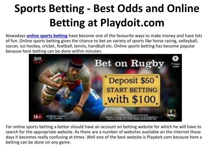 sports betting best odds and online betting at playdoit com n.