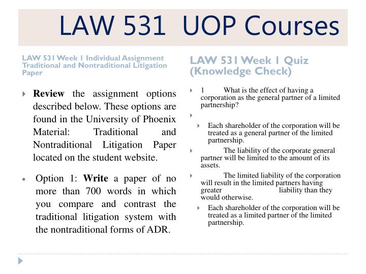 nontraditional and traditional litigation paper Essay traditional and nontraditional litigation traditional and nontraditional litigation susan maynard law/531 may 5, 2013 bob houle traditional and nontraditional litigation the.