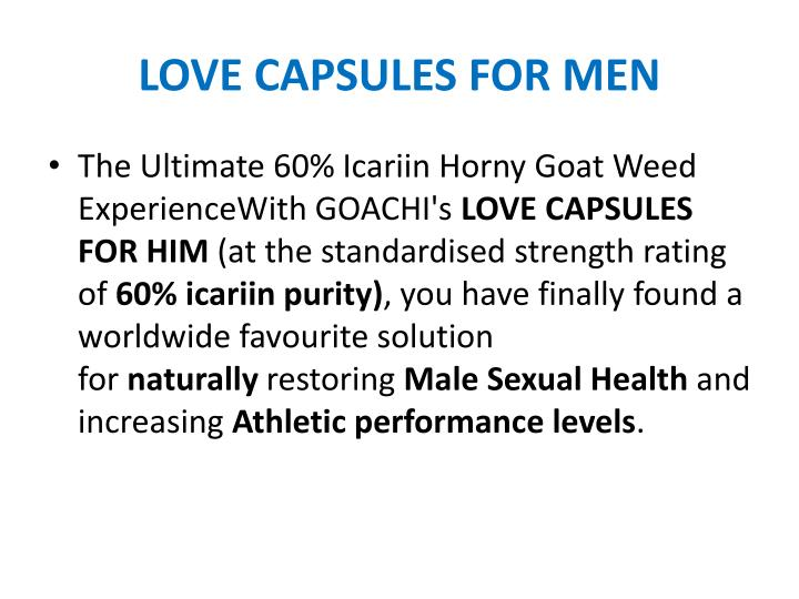 LOVE CAPSULES FOR