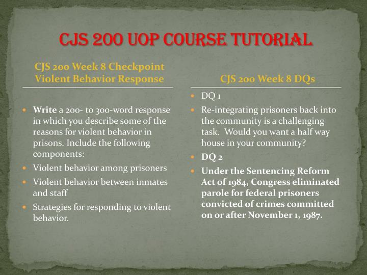 cjs200 violent behavior response How to respond to disruptive, threatening, or violent behavior step 1: general response to disruptive behavior (no threats or weapons) 1 respond quietly and calmly try to defuse the situation 2 do not take the behavior personally usually, the behavior has little to do with you, but you are used as a target in the.
