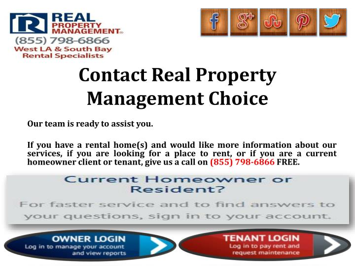 Contact Real Property Management Choice
