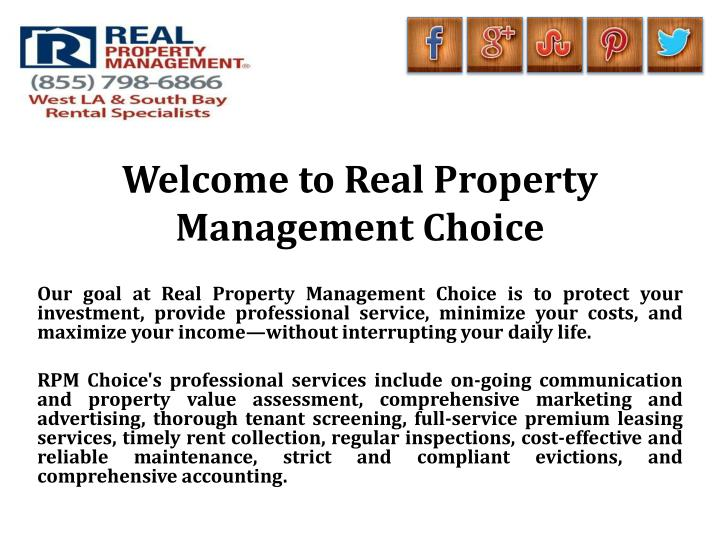welcome to real property management choice n.