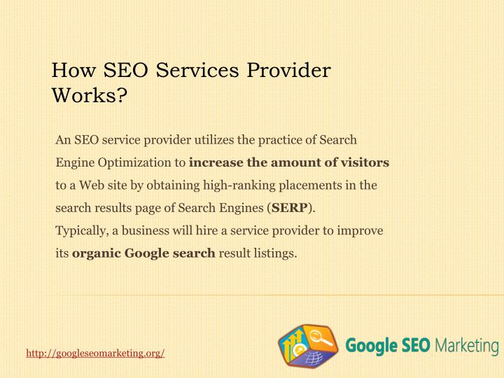 How SEO Services Provider Works?