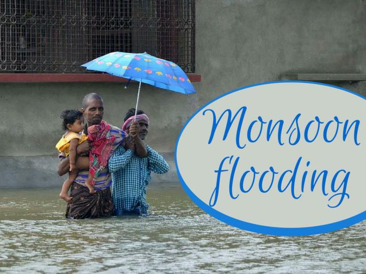 monsoon flooding n.