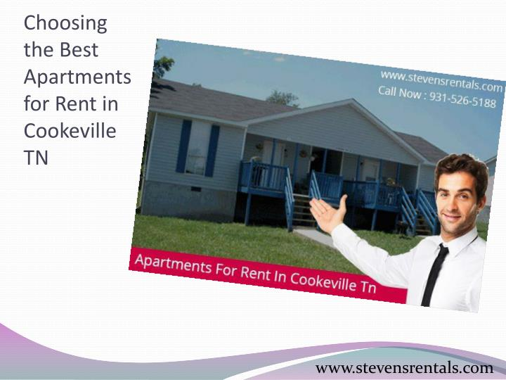 Choosing the best apartments for rent in cookeville tn