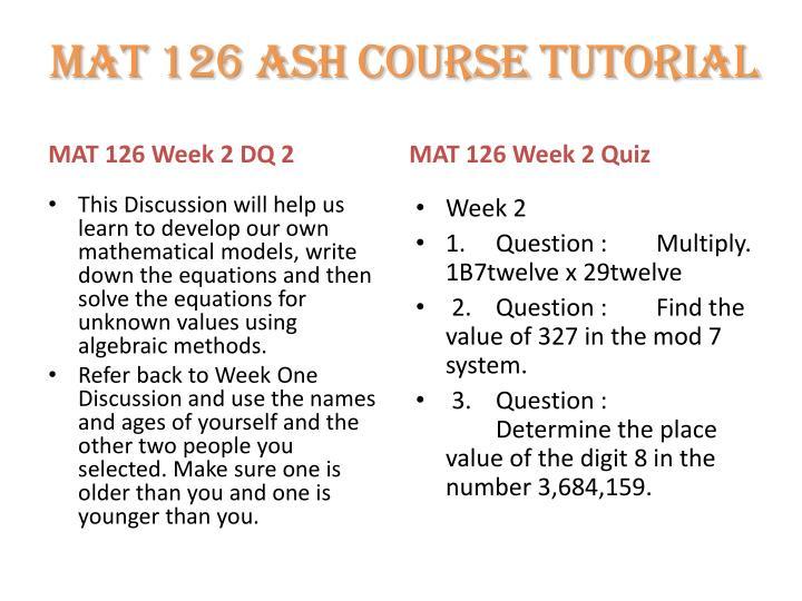 mat 126 week 4 quiz