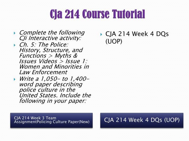policing culture paper cja 214