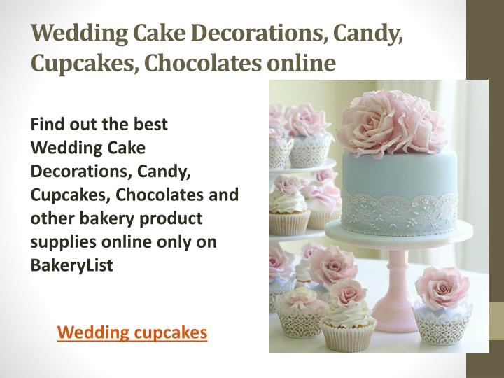 wedding cake decorations candy cupcakes chocolates online n.