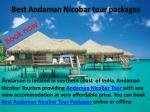 best andaman nicobar tour packages