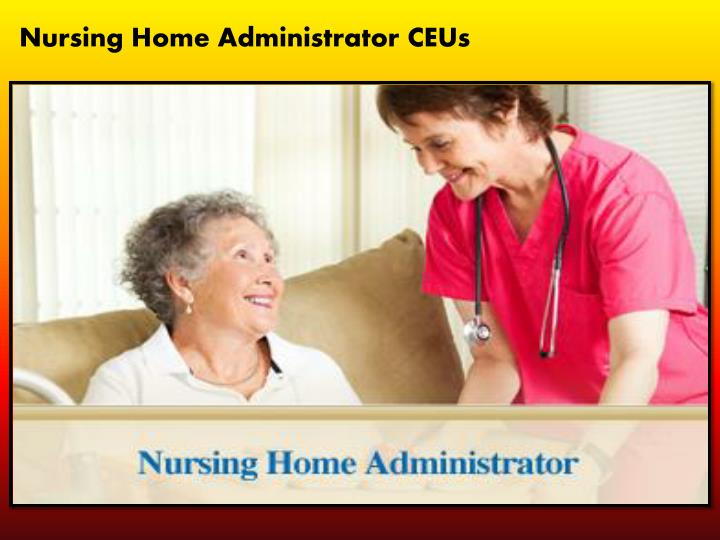 the nursing home administrator essay A nursing administrator is a person who is of great importance to family nursing a nursing administrator provides settings which may constitute a nursing administrator can be certified by various professional nursing organizations certification of a nursing administrator ensures that the.