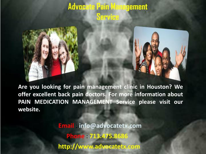 Advocate Pain Management Service