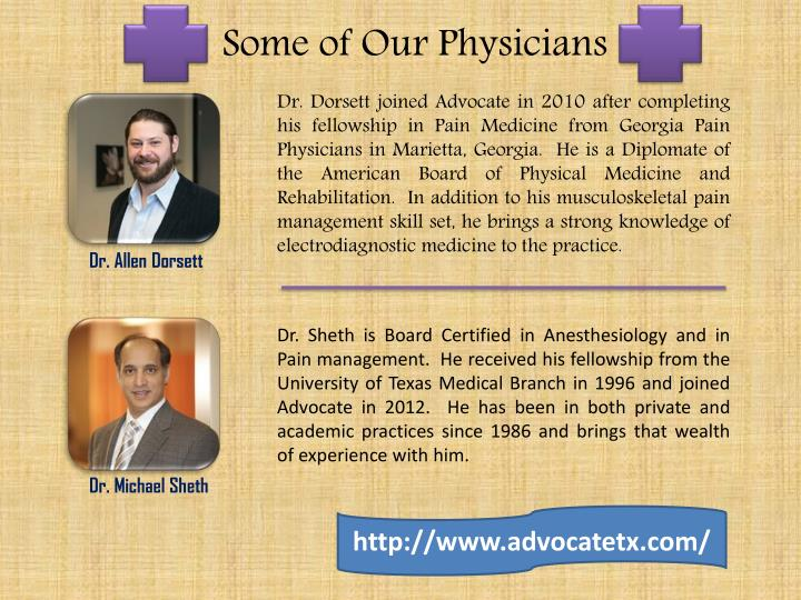 Some of Our Physicians