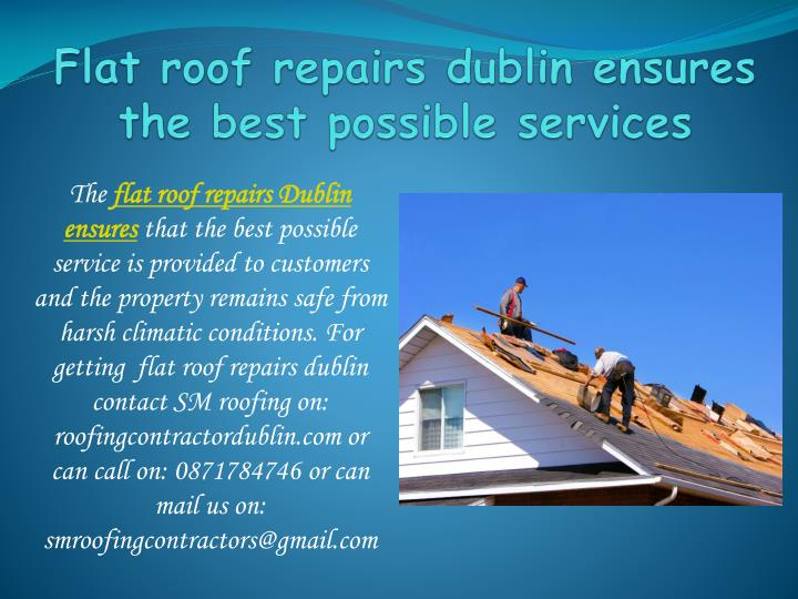 flat roof repairs dublin ensures the best possible services n.