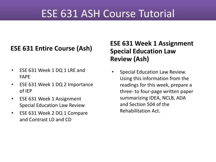 ese 633 entire course