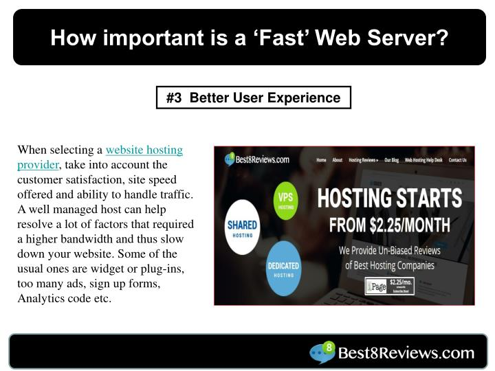 How important is a 'Fast' Web Server?