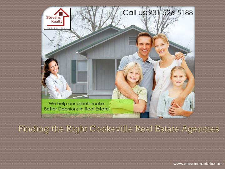 finding the right cookeville real estate agencies n.