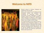 welcome to nifd