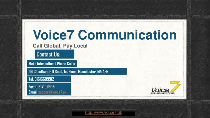 voice7 communication n.